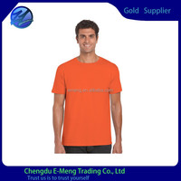 Wholesale China Made Plain Cotton Orange Color 180gsm Boys Clothing T shirts