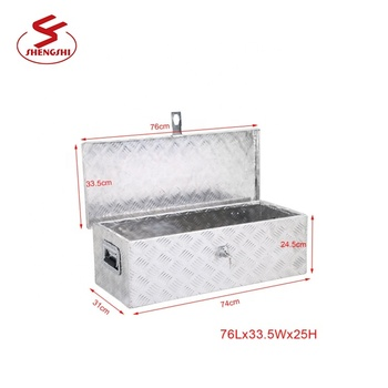 High Quality Portable Aluminum Trailer Saddle Toolbox Pickup Waterproof Truck Tool Box