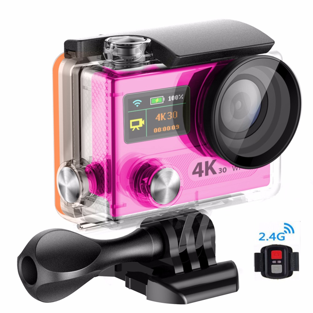 2017 Cheap action camera 4k high speed 16MP WIFI 1080P 30fps Ultra HD under water camera With 1050mah battery 170D angle lens