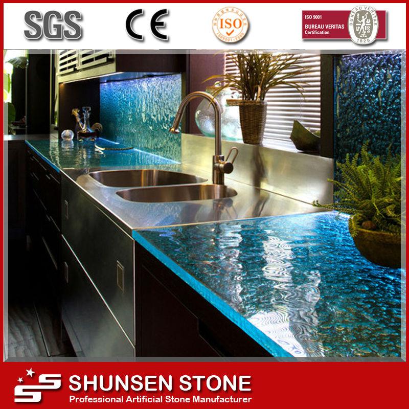 Cocina encimera de piedra cuarzo azul superior sqc107 for Encimeras de piedra precios