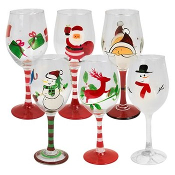 Christmas Hand Painted Wine Glass Buy Hand Painted Wine Glass Christmas Wine Glass Painted Wine Glass Product On Alibaba Com
