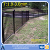 Black Aluminum Fence With Stone Columns