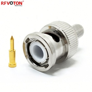 Brass RG6 RG59 F Coaxial Cable Connector CCTV Camera Connector Male Female To Female RG 59 BNC Connector