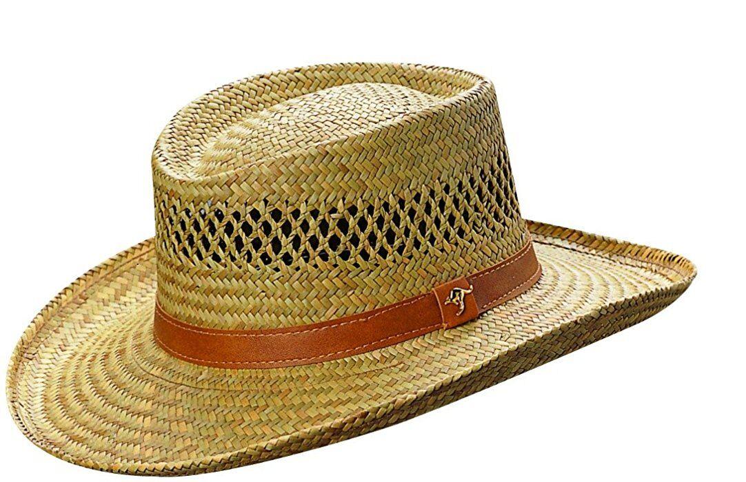 baedc3c9426 China wholesale mens rush straw cowboy casual wide brim hollow gambler hat