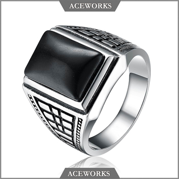RN6616 Aceworks Top Sale 925 sterling silver Turkish man ring antique Islamic silver rings for Muslim men