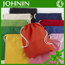 Cost Effective Brushed Fabric Plain Drawstring Cotton Bag