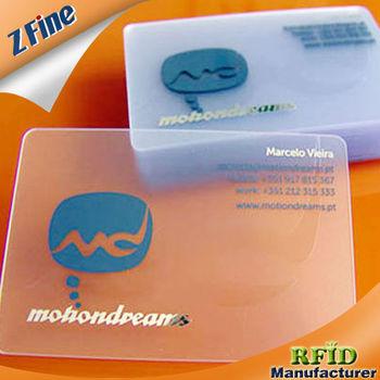 Clear Plastic Business Cards Cartes De Visite En Plastique Transparent
