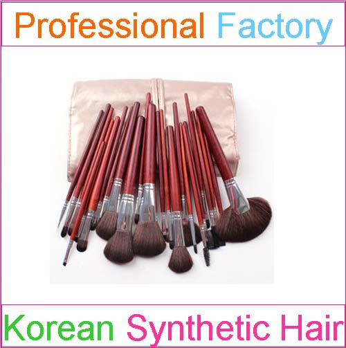 professional synthetic makeup brush set 24 pieces with oem design factory price