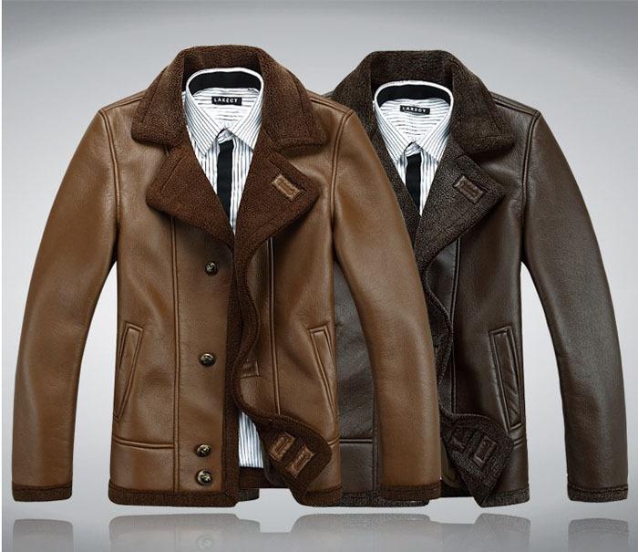 hommes air force hiver chaud en cuir bomber blouson veste. Black Bedroom Furniture Sets. Home Design Ideas