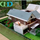 Housing Development Scale Model Making,3d Building Model With Nice Trees, High Quality Architectural Building Scale Model,Miniat