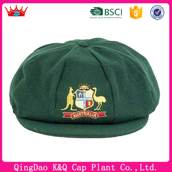 Custom printing logo cricket baggy green caps for sale