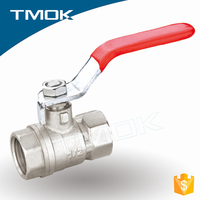 medium pressure water ball valve single lever handle with PVC covered best price brass ball valve