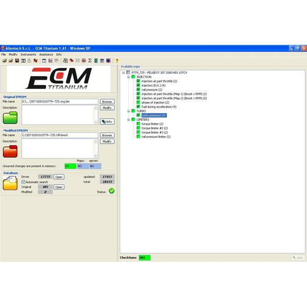 Новая версия ECM титан 1.61 с 18475 драйвер