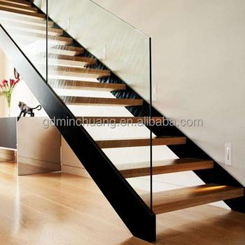 Modern Frameless Glass Balustrade Staircase Metal Frame Home Stairs Design    Buy Home Stair Design,Stair Frame,Glass Balustrade Design Product On ...