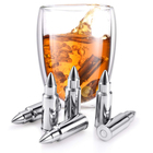 Cube Food Glass Stainless Steel Bullet Shaped Ice Cube Metal Whiskey Rocks Amazon Hot Item With Gifts Box Cheapest Price