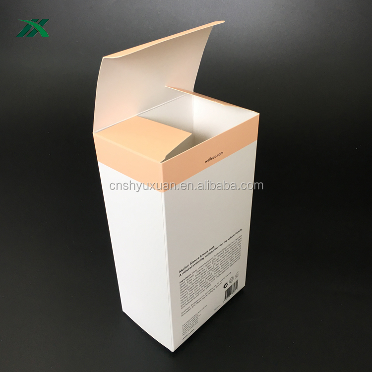 custom fantastic white printing paper card box for cosmetic