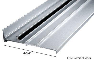"""CRL Aluminum OEM Replacement Patio Door Threshold for Premier Doors; 4-3/4"""" Wide X 6 ft Long"""