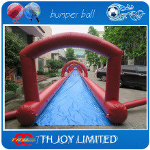 inflatable city slide/slide the city/1000 ft slip n slide inflatable slide the city