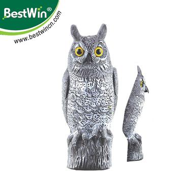 Bstw Plastic Owl Decoy Bird Scarer Owl Bird Repellent With Hawk Scarer -  Buy Plastic Owl Decoy,Bird Repellent,Hawk Scarer Product on Alibaba com
