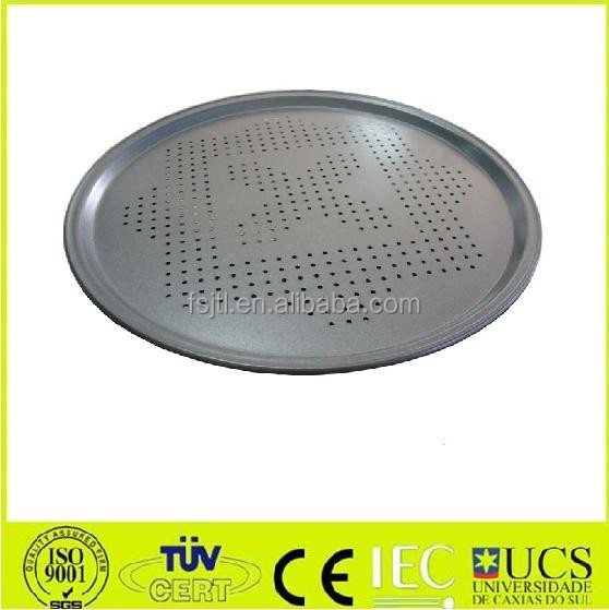 BBQ Grills carbon steel metallic pizza pan with holes