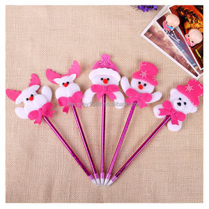 Christmas Ballpoint Pens Cute Plush Stationary Favor Party