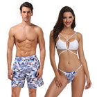 Lovers Beach Wear Women Two Pieces Swimming Suit Men Beach Shorts In Stock