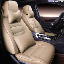 Набор чехлов для сидений автомобиля KADULEE для Volkswagen 4 5 6 7 vw passat b5 b6 b7 polo golf mk4 tiguan jetta touareg аксессуары для автомобиля-Стайлинг(Китай)