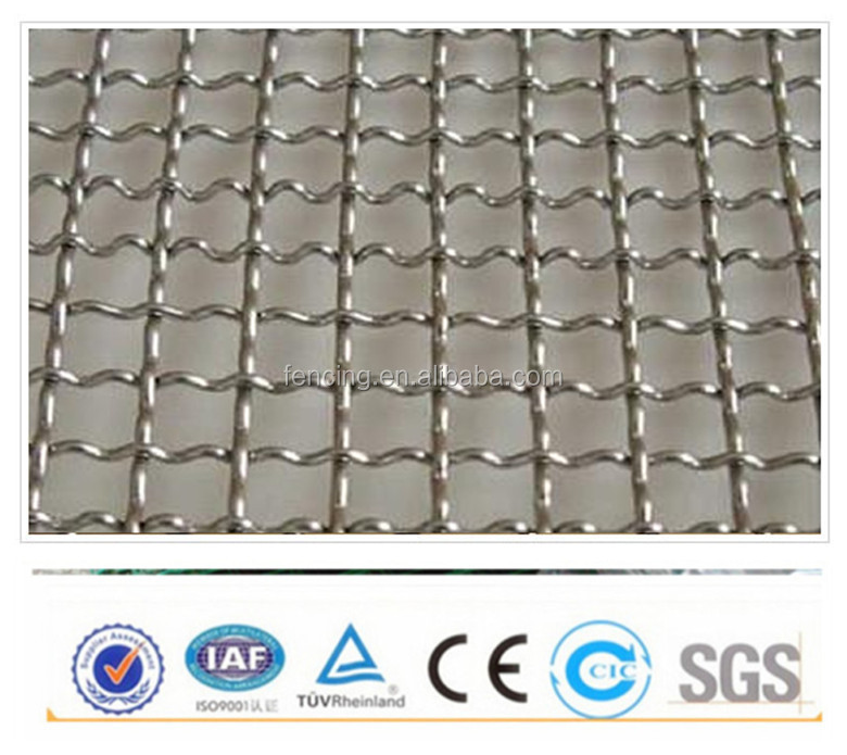 Ss 6mm/5mm Opening Grizzly Wire Screen Crimped Wire Mesh (factory ...