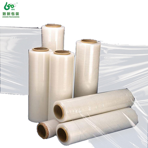 Clear bale wrap plastic stretch foil hand wrap film
