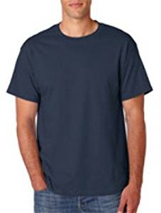 Hanes Adult Tall Beefy-T(R) T-Shirt - Navy (Lt) - 5180T Hanes Adult Tall Beefy-T(R) T-Shirt : Navy (Lt) An Always-Popular Classic T-Shirt With The Weight For Warmth And Sharp Printability. Preshrunk