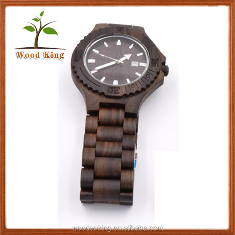 China Oem Digital Wooden Fashion Chronograph Cluse Watch Men 2016 Brand Quartz Comely Watch Manufactuer Exclusive Wrest Watch