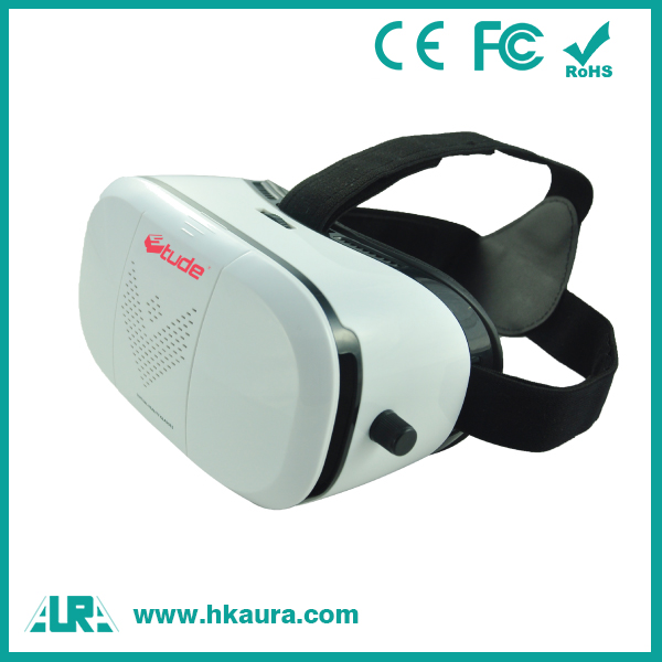 Hot selling oem professional adjustable glasses 3d vr box for movie <strong>video</strong>