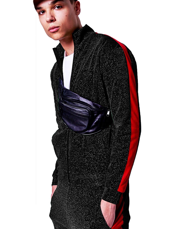 JINIDU Mens Metallic Varsity Jackets Hipster Shiny Jacket Coat Zipper Closure for Nightclub, Disco, Dance