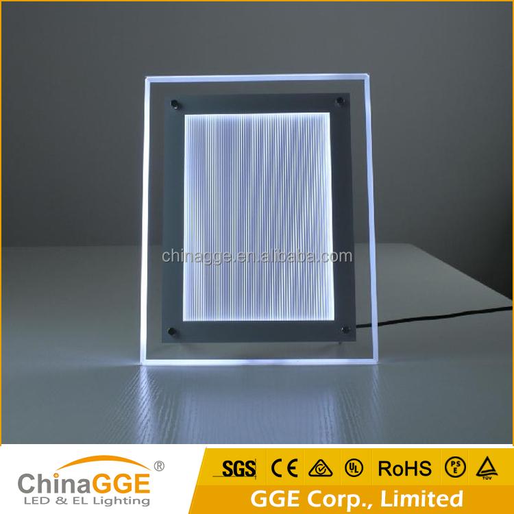 Super Clear Acrylic Light Box Led Backlit Frame Panel Display For ...