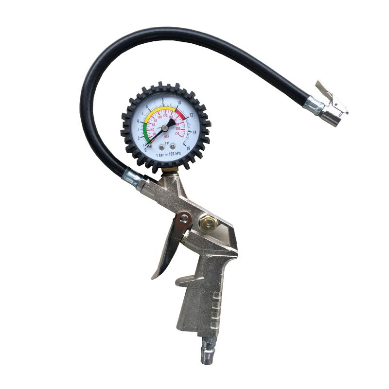Высокое качество шины инфляция Gun авто инфлятором пистолет мотоцикл велосипедов шин манометр бесплатная доставка
