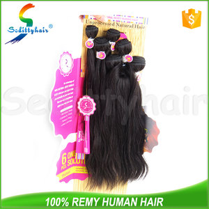 Seditty Mishell 6pcs one pack solution unprocessed nature remy hair brazilian virgin bundles hair with top quality
