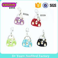 Wholesale latest design alloy handbag pendant purse charm for handbag