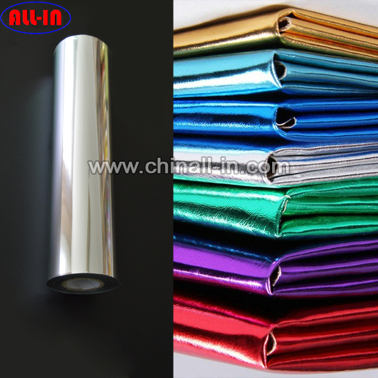 Free sample gold/silver glossy and matt metallic hot stamping foil for PVC PU leather