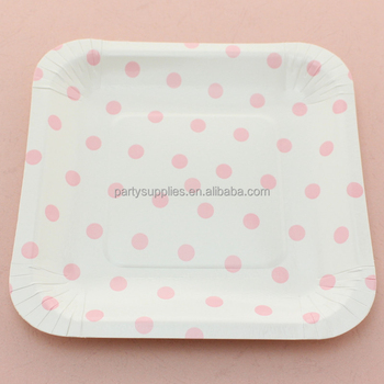 Disposable Polka dot Paper Plates Wedding Birthday Party Supplies Square Paper Plates & Disposable Polka Dot Paper Plates Wedding Birthday Party Supplies Square Paper Plates - Buy Disposable Paper PlatePolka Dot Paper PlateSquare Paper ...