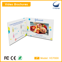 invitation lcd video card customized high quality 7 inch lcd screen video brochure greeting card VC7000