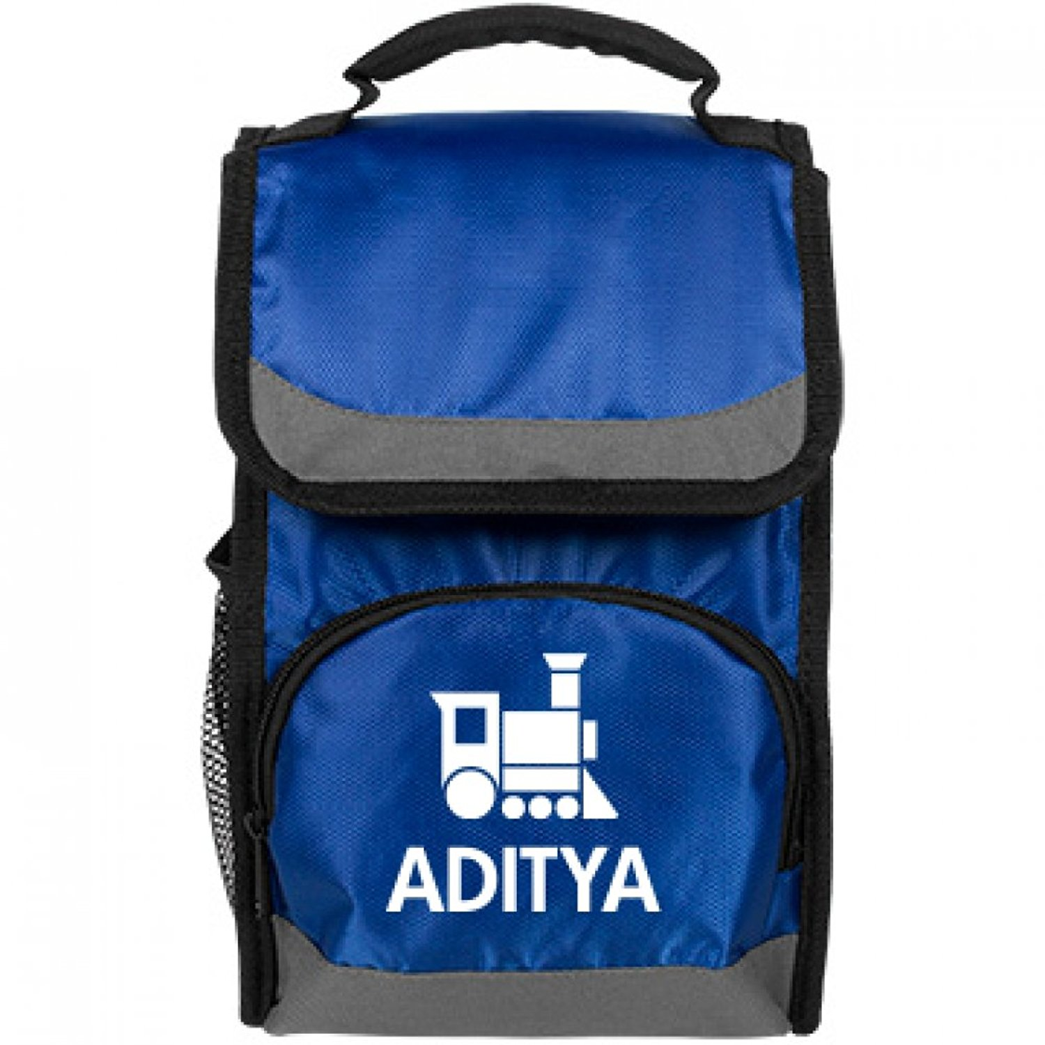 Aditya Kids Cute Train Lunch Bag: Port Authority Flap Lunch Cooler Bag