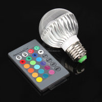 E27 3W/5/9W LED 16 Color RGB Magic Spot Light Bulb Lamp + Wireless Remote Control