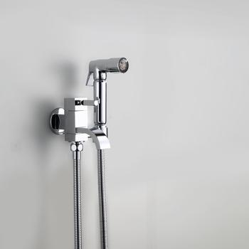 Bathroom Shattaf Toilet Jet Spray Hand Shower Cold Faucet With Hose LED Jet  Spray