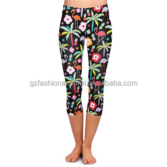 happy hour animals island printed yoga pants wholesale china factory