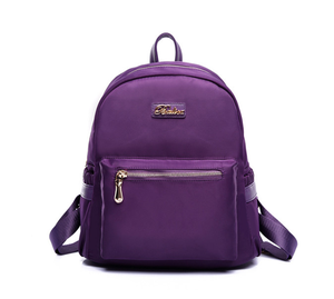 Manufacturers wholesale solid color nylon backpack China