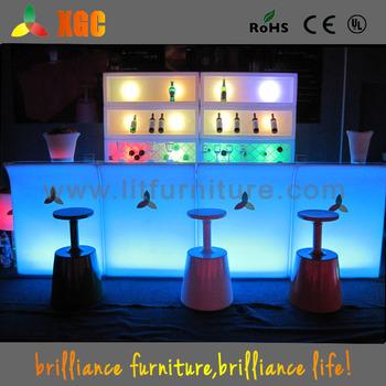 Pub Reception Desk Led Bar Front Light Up Counter