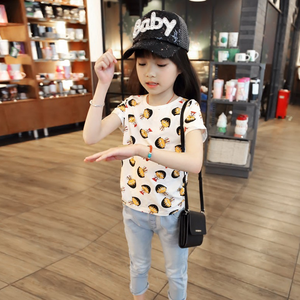 TS1233 cute children clothes high quality cotton girls dora printed t-shirt