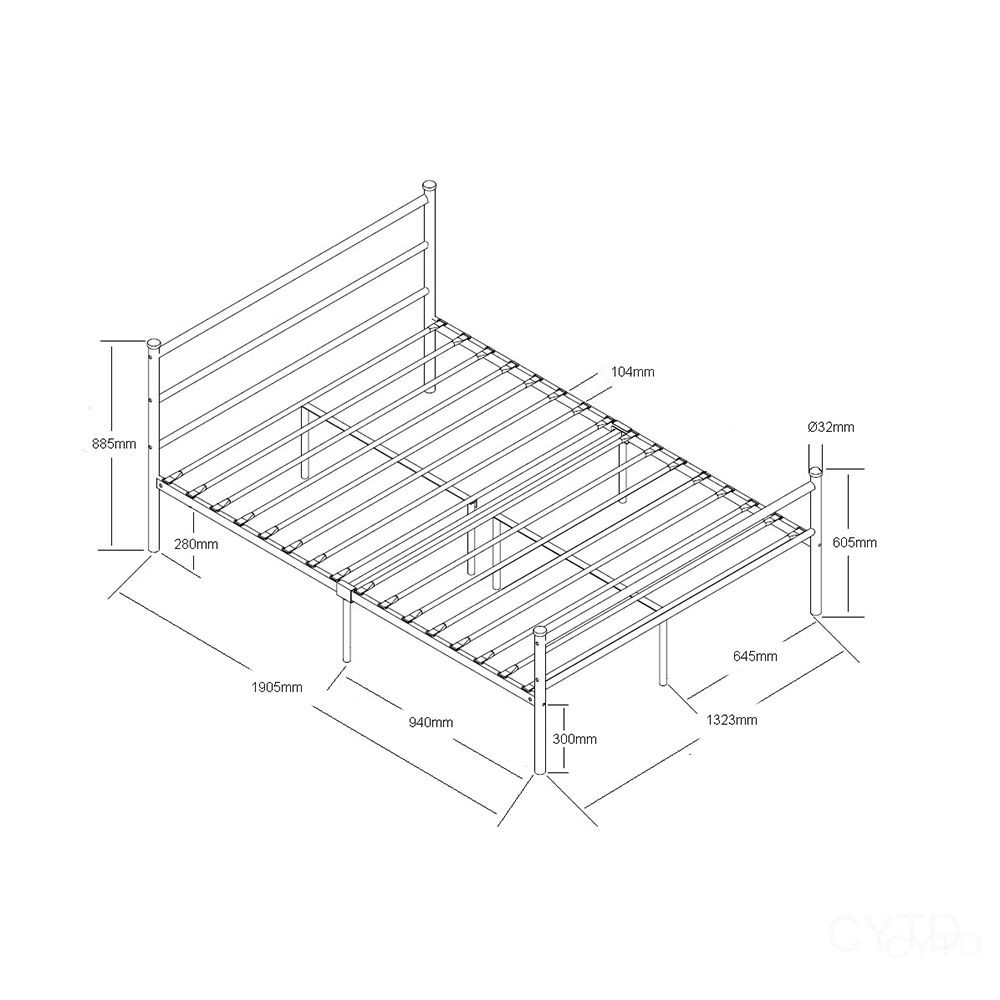 2016 popular durable knock down structure metal bed base. Black Bedroom Furniture Sets. Home Design Ideas