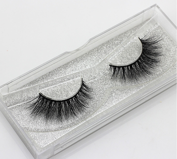 wholesale 100% real  fur mink eyelashes 3d mink lashes,with custom box your won brand