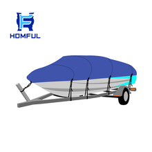 Homful 80A01C Universal boat cover fishing tri hull runabouts boat cover, ski bass boat cover, boat trailer hitch cover